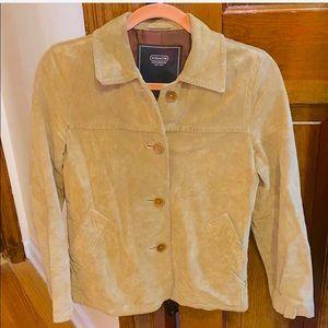 Vint Coach Caramel Suede Cropped Jacket XS $1,000